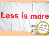 """Less is More"" beach towel"
