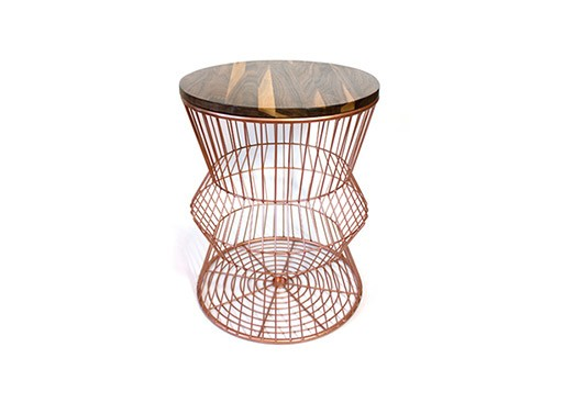 Walnut Wire Side Table