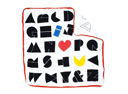 Wired Alphabet Square Blanket