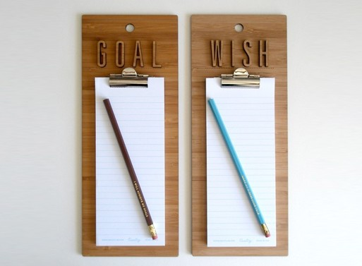 Wish Goal List Clipboards