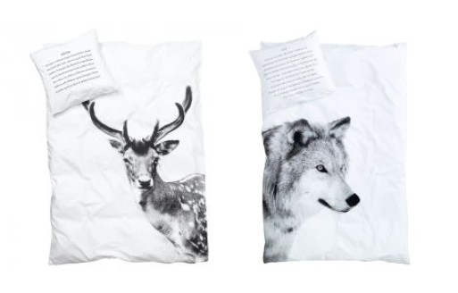 Wolf and Deer Kid's Duvet Cover