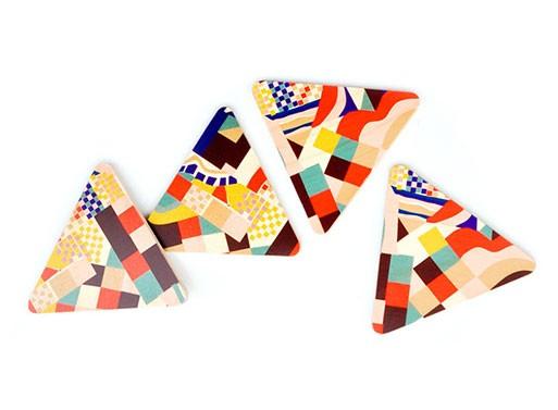 Paloma Triangle Coaster Set and Trivet