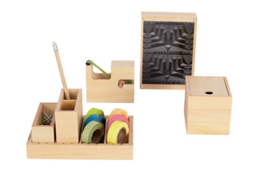 Wood desk set - Designer desk accessories and organizers ...