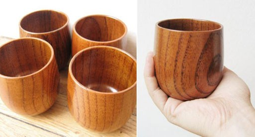 Keyaki Wood Tea Cups