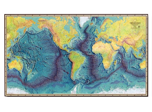 World Ocean Floor Map