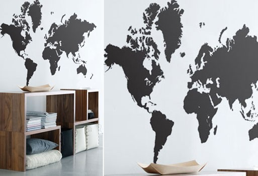 World map wall sticker by ferm living accessories better living world map wall sticker by ferm living gumiabroncs Choice Image