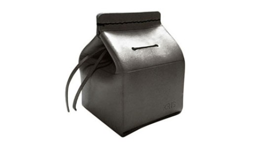 "YOURS Customizable Leather ""Milk Carton"" Coin Bank"