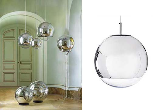 mirror ball pendants and floor lamps by tom dixon accessories better living through design. Black Bedroom Furniture Sets. Home Design Ideas