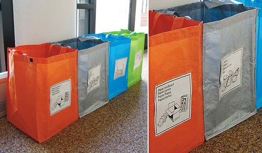 Recycling Bags on Plastic Reusable Vases