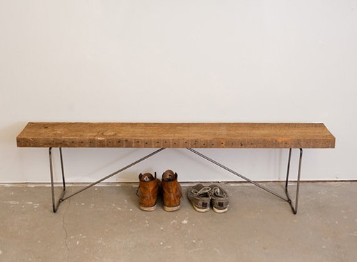 Reclaimed Wood Bench Benches Better Living Through Design