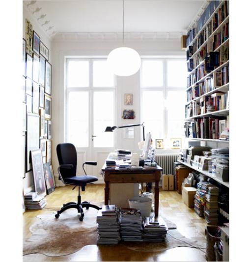 Interior: Office, Bookshelves