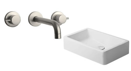 La Toscana wall mounted faucet & Duravit Vero Washbasin
