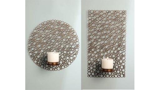 Iron Circles Wall Sconce