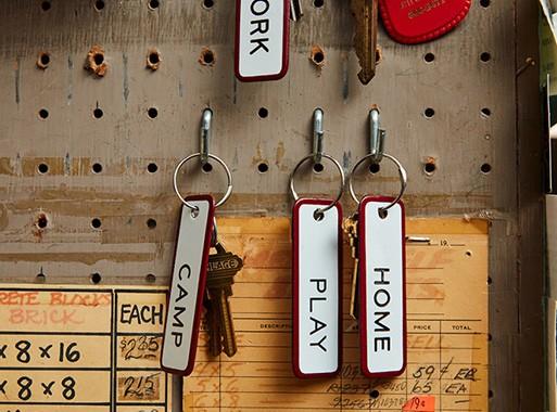 Enamel Steel Keychain