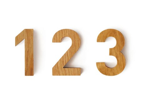 FF DIN Typeface House Numbers