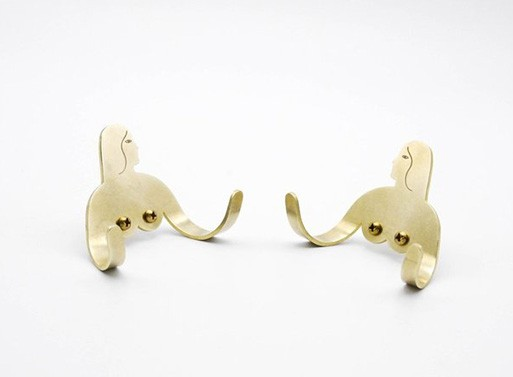 Female Support System Brass Hooks