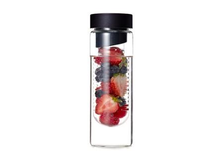 Flavour It Glass Water Bottle