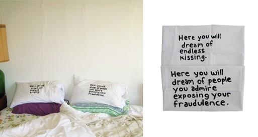 Miranda July pillowcase set