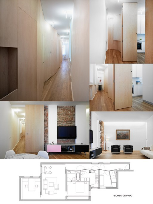 "Piso ""biombo"" (Folding Screen Hallway)"