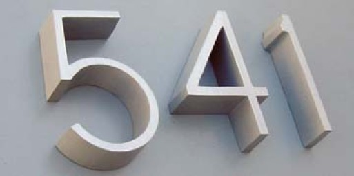 Architectural Address Numbers/Letters
