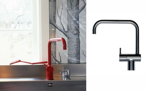 Vola Faucet by Arne Jacobsen and woods wallpaper