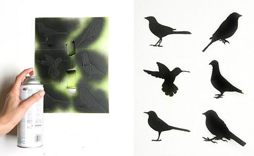Set of 6 Bird Stencils