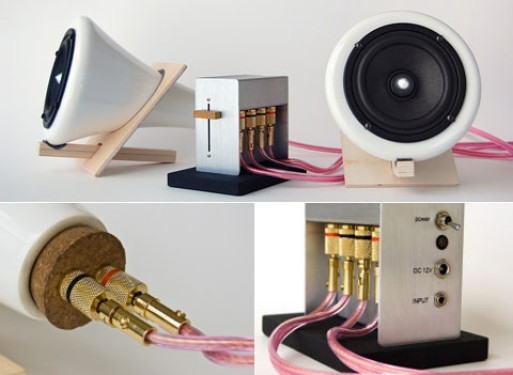 Ceramic Speakers by Joey Roth