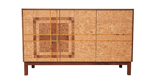 The Cork Mosaic Plaid Sideboard by Iannone Design