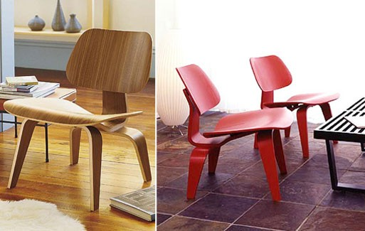 Eames Molded Plywood Lounge Chair, LCW