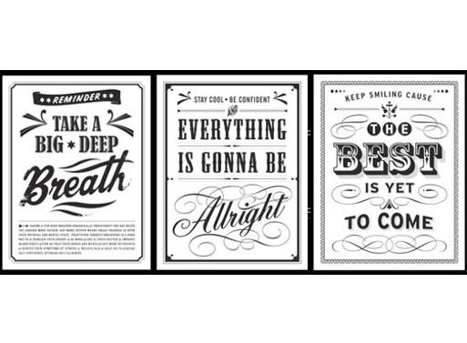 """Three """"Vintage"""" Posters by Eva Juliet"""
