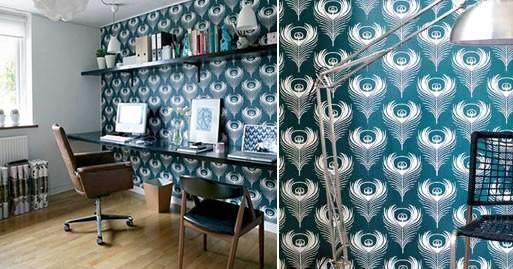 Inspiration: Wallpaper in an office