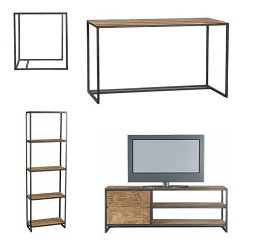 Fulton Desk, Bookcase, Media Console