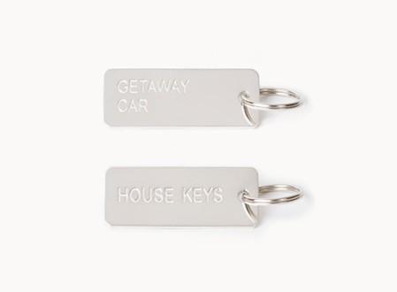 Keytags in Sterling Silver