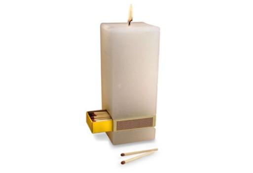 Candle with Matchbox by Jeremy Walton
