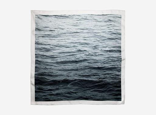 Pacific Printed Silk Scarf by Kelly Lynn Jones