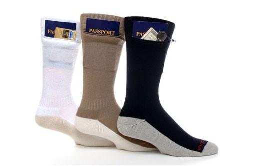 Zip It Gear Passport Pocket Sock
