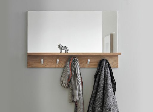 Peggy Mirror Accessories Better, Entryway Mirror With Coat Hooks