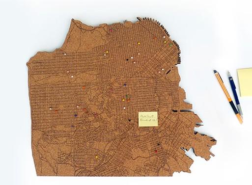 San Francisco CorkMap Board