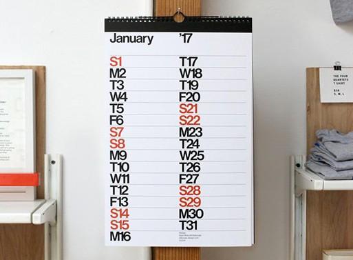 Sans Calendar by Rationale