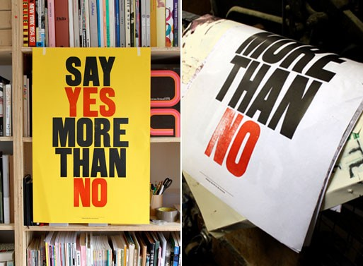 Say Yes More Than No Poster
