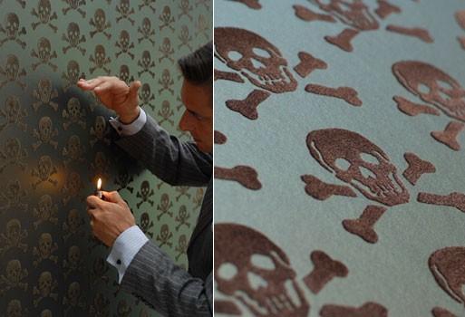 Skulls Wallpaper – Bronze on Oil Slick