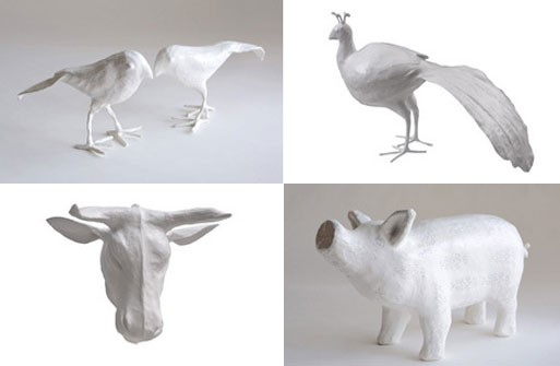 Papier-mâché Creatures from Stray Dog
