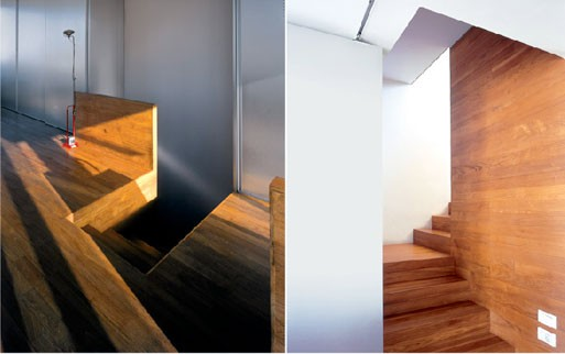 P/I apartment staircase, Paritzki & Liani Architects