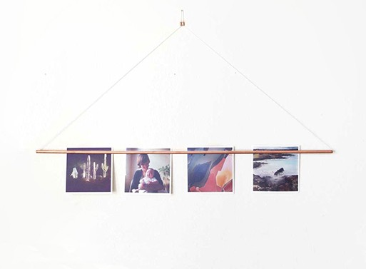 Copper Photo Bar Picture Hanger