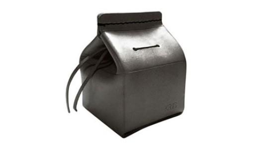 "YOURS Customizable Leather ""Milk Carton"" Coin Bank"