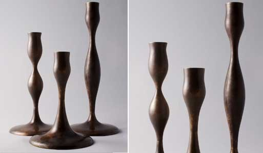 Eva Zeisel Brass Candlesticks